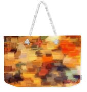 Warm Colors Under Glass - Abstract Art Weekender Tote Bag