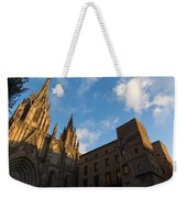 Warm Sun Glow On The Cathedral Of Barcelona Weekender Tote Bag