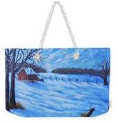 Warm Winter Barn Weekender Tote Bag