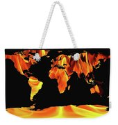 Warming World Map Weekender Tote Bag