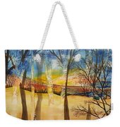 Warmth Waiting Beyond The Hill Weekender Tote Bag