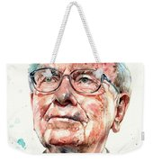 Warren Buffett Portrait Weekender Tote Bag