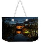 Warwick Castle At Night Weekender Tote Bag