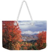 212m45-wasatch Mountains In Autumn  Weekender Tote Bag