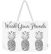 Wash Your Hands Pineapples- Art By Linda Woods Weekender Tote Bag