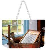 Washboard Weekender Tote Bag by Susan Savad