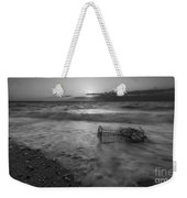 Washed Up Crab Cage 16x9 Bw Weekender Tote Bag