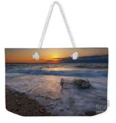 Washed Up Crab Cage 16x9 Weekender Tote Bag