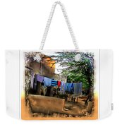 Washing Line And Cows Indian Village Rajasthani 1b Weekender Tote Bag