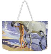 Washing The Horse Weekender Tote Bag by Joaquin Sorolla y Bastida