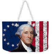 Washington And The American Flag Weekender Tote Bag