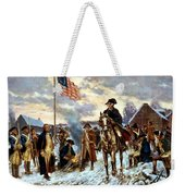 Washington At Valley Forge Weekender Tote Bag