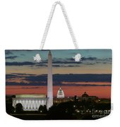 Washington Dc Landmarks At Sunrise I Weekender Tote Bag