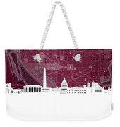 Washington Dc Skyline Map 3 Weekender Tote Bag