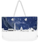 Washington Dc Skyline Map 4 Weekender Tote Bag