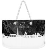 Washington Dc Skyline Map 5 Weekender Tote Bag