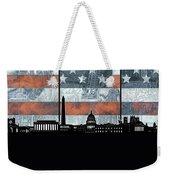 Washington Dc Skyline Usa Flag Weekender Tote Bag