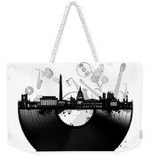 Washington Dc Skyline Vinyl Weekender Tote Bag