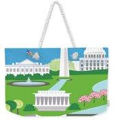 Washington, D.c. Vertical Skyline Weekender Tote Bag