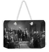 Washington Delivering His Inaugural Address Weekender Tote Bag by War Is Hell Store