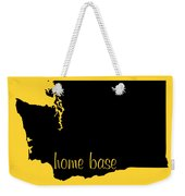 Washington Is Home Base Black Weekender Tote Bag