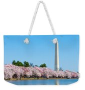 Washington Monument And Cherry Blossoms Weekender Tote Bag