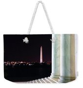 Washington Monument From Stairs Of Jefferson Weekender Tote Bag