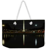 Washington Monument In Reflection Weekender Tote Bag
