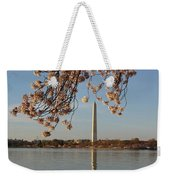 Washington Monument With Cherry Blossoms Weekender Tote Bag by Megan Cohen