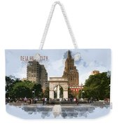Washington Square Park Greenwich Village With Text New York City Weekender Tote Bag