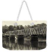 Washington's Crossing Bridge On A Rainy Day Weekender Tote Bag