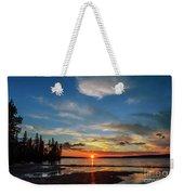 A Delightful Summer Sunset On Lake Waskesiu In Canada Weekender Tote Bag