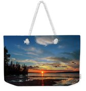 A Delightful Summer Sunset On Lake Waskesiu In Canada Weekender Tote Bag