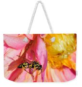 Wasp And Flower Weekender Tote Bag