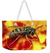 Wasp In The Bloom Weekender Tote Bag