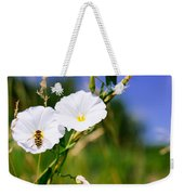 Wasp On A White Flower Weekender Tote Bag