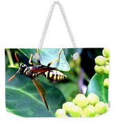 Wasp On The Ivy Weekender Tote Bag