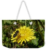 Wasp Visiting Dandelion Weekender Tote Bag