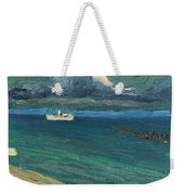 Wassily Kandinsky 1866 - 1944 Rapallo, Seascape With Steamer Weekender Tote Bag