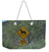 Watch For Horses Weekender Tote Bag