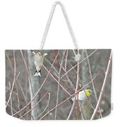 Watch Me One Bird In Flight Weekender Tote Bag