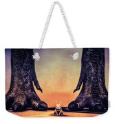 Watch Out Little Bunny Weekender Tote Bag by Bob Orsillo