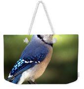 Watchful Blue Jay Weekender Tote Bag