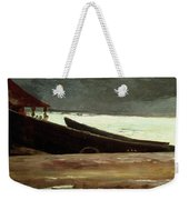 Watching A Storm On The English Coast Weekender Tote Bag