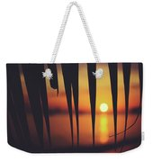 Watching Beautiful Caribbean Sunset From A Simple Beach Shack Weekender Tote Bag