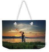 Watching Sunset With Daddy Weekender Tote Bag