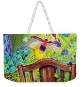 Watching The Bug Byway By Way Of Back Porch Weekender Tote Bag