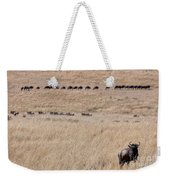 Watching The Herd Weekender Tote Bag