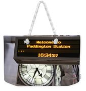 Watching Time At The Station Weekender Tote Bag