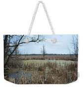 Water And Cattails Weekender Tote Bag